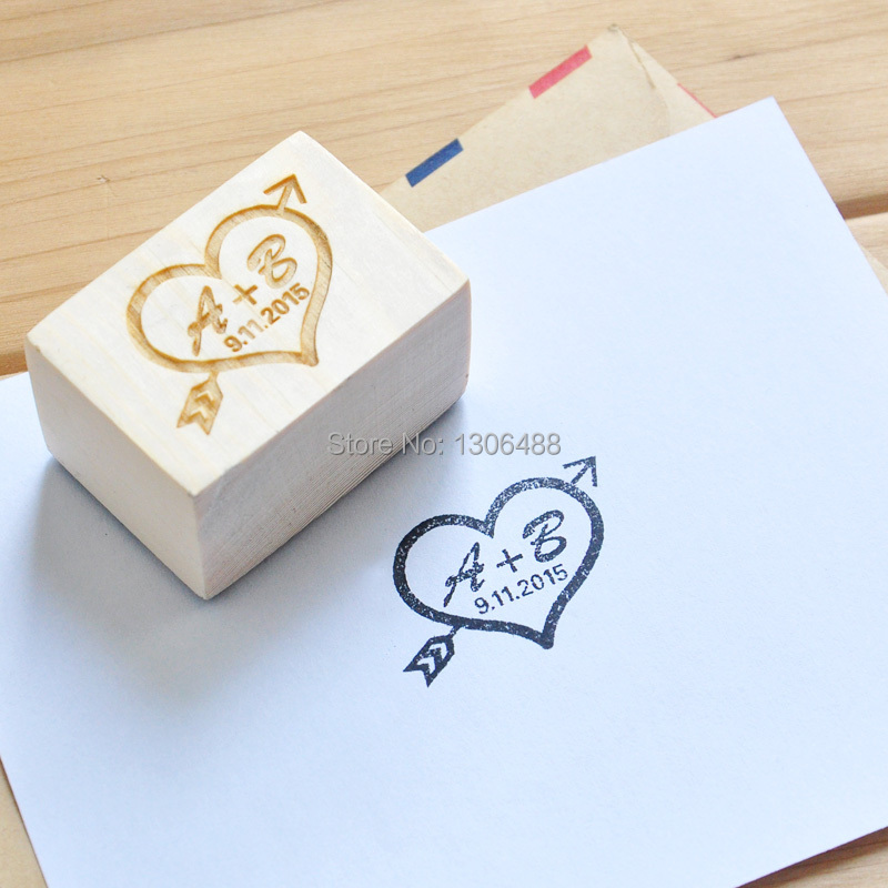 Stamps For Wedding Invitations: Personalized Wedding Stamp, Custom Wood Stamp Wedding