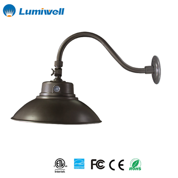 42W Energy Star ETL Classic Outdoor Wall Sconce Photocell Adjustable Bronze  LED Gooseneck Barn Light Fixture