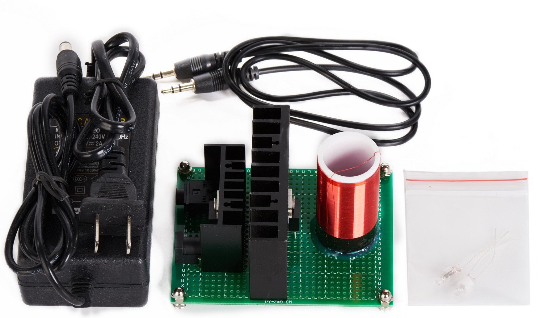 Sunnytech® Tesla Coil Super Mini Tesla's Coil Model (Tesla Loudspeaker) M072