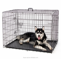 2017 popular heavy duty black dog kennels two doors large pet cage / dog cages / dog kennel