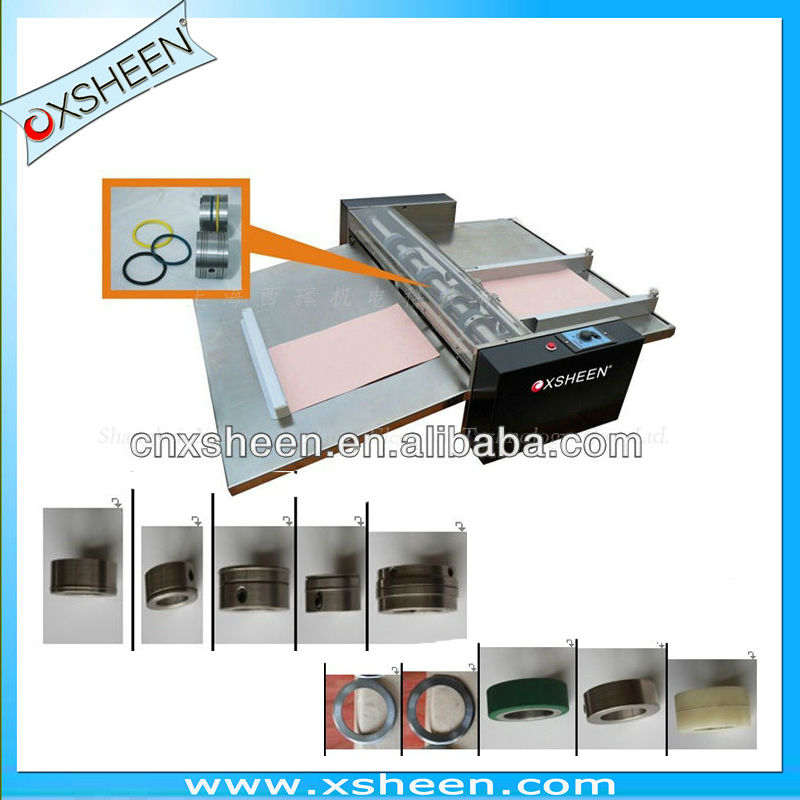 06 manual feeding paper creasing machine, sheet perforating machine, creasing and perforating machine