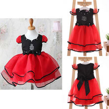 NWT Girls Kids Princess Red Tulle Bow Party One pieces Gown font b Fancy b font