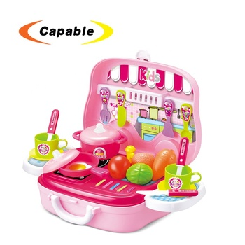 Plastic Play Toy Kitchen Set For Girl Kids Kitchen Suitcase Cooking Toy Set Buy Plastic Play Toy Kitchen Set Kids Kitchen Suitcase Kitchen Cooking