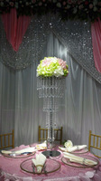 Beautiful 5 tiers crystal wedding flower stand centerpieces