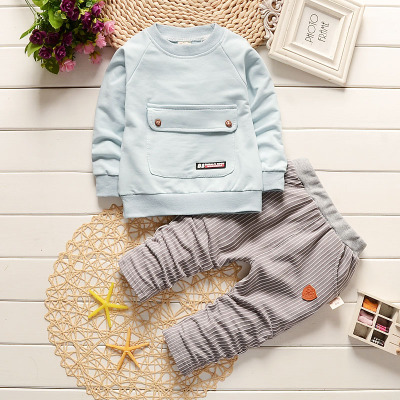 Full Cotton Big Pocket 2 Pieces Children Outfit Winter Outfit