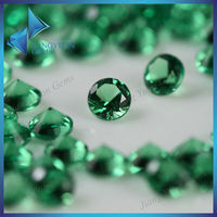 bulk cut 2mm round brazilian emerald gemstone