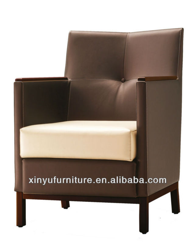 Formal hotel leather tub chairs XYD421