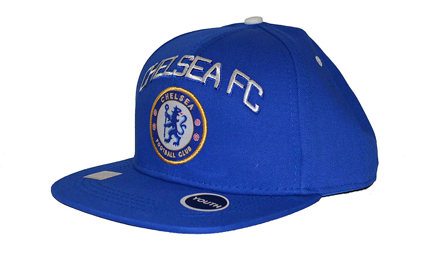 Get Quotations · Chelsea Fc Snapback Youth Kids Adjustable Cap Hat - White  - Blue New Season 9165e9dc7aa