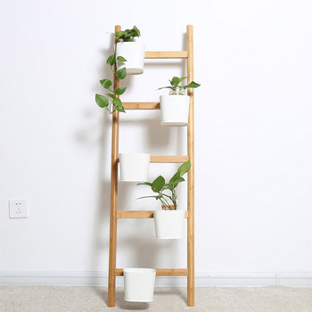 White Bamboo Decorative Vertical Ladder Plant Stand Buy Vertical Ladder Plant Stand Ladder Plant Stand Decorative Vertical Ladder Plant Stand