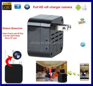 New Products 1080P wifi Mini USB Spy Hidden charger Camera with motion detection, 1080p plug hidden camera charger
