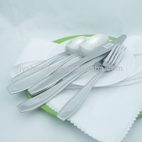 24pcs used restaurant stainless steel wholesale tableware