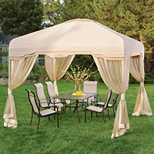 Garden Winds Cypress 10 x 10 Gazebo Replacement Canopy Top Cover
