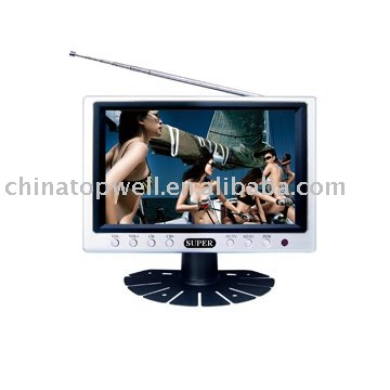 Portable 7'' Color TFT LCD TV Monoitor with AV-IN Jack