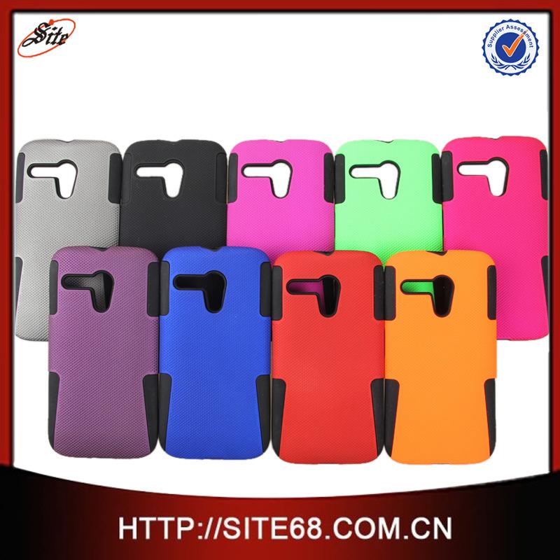 19dc0f306d8 Guangzhou Mesh Combo PC+Silicone Accesorios para Celulares Protectores  Funda Case Estuche para Moto G