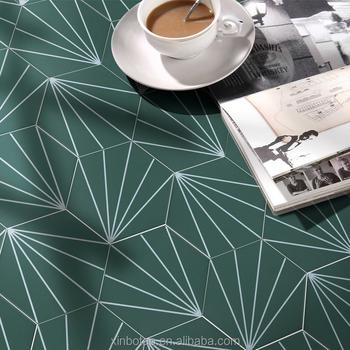 Hexagon Deep Green Color Ceramic Tiles Bathroom Mosaic Morocco Floor