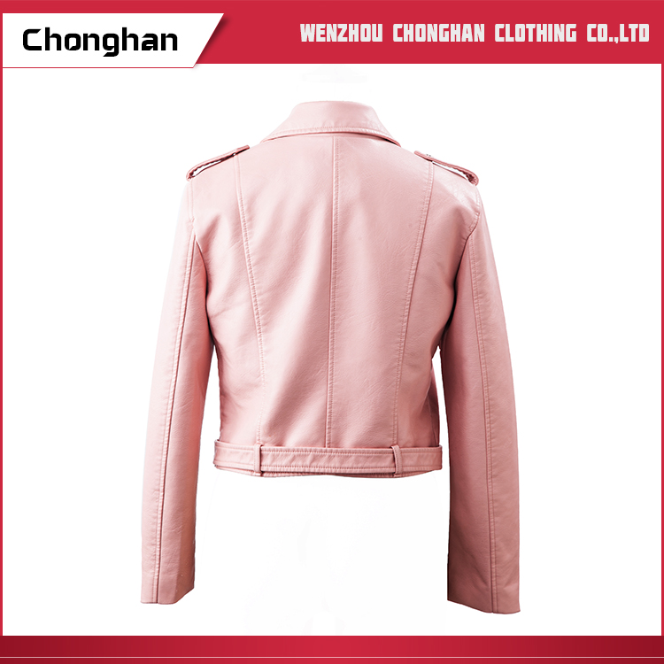 Chonghan March Expo Wholesale Red Colour Lady Short Type Leather