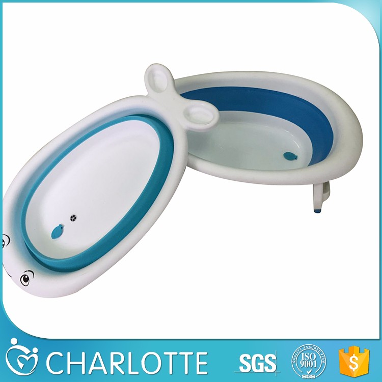 Europe style folding plastic baby bathtub