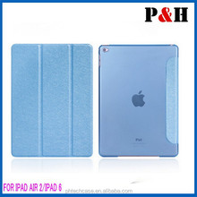 Smart cover case for Ipad air 2, pu leather case for ipad air 2
