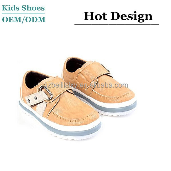 J-C0125 China Wholesale Kids Sport Shoes Summer Fashion Breathable Child Casual Sports Shoes Slip-on Buckle Adjust Shoes
