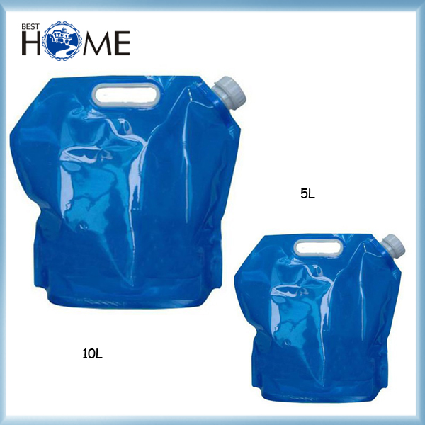 5L Private Label Reusable Camping Plastic Foldable Drinking Water Bag