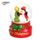 2018 New arrival cheap christmas series penguin resin snow globe for home decor