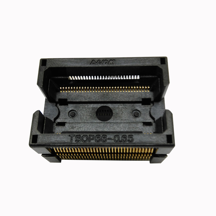 TSOP66 Test Socket Open Top TSOP66-0.65 IC Test Socket Double Contact Flash Programmer Adapter Conversion Block