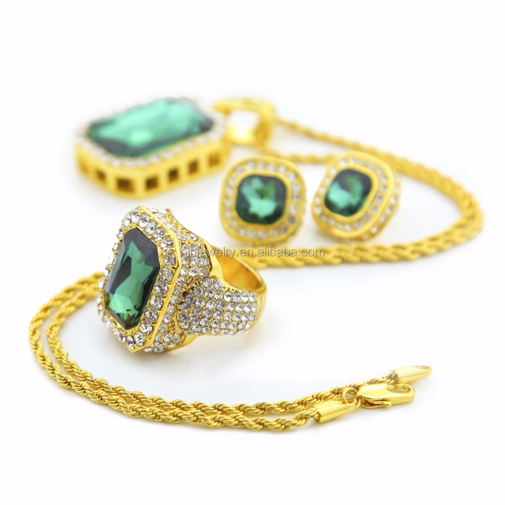 2017 Blingbling saudi gold jewelry set,alloy stone jewelry for women