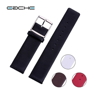 Flat-end Watch Band Genuine Leather 18mm 20mm 22mm