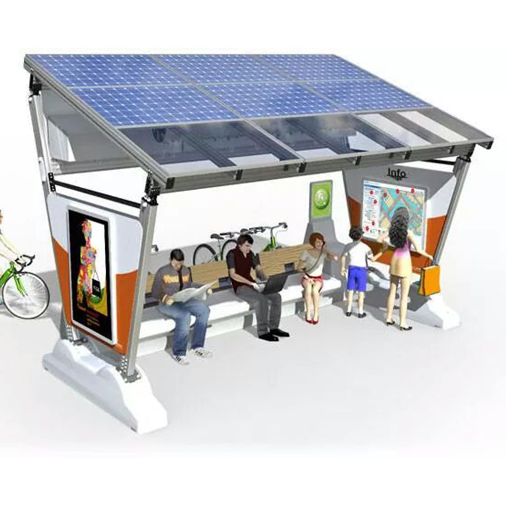 product-YEROO-2020 Customized Advertising Bus Stop Solar Energy Bus Shelter-img-7