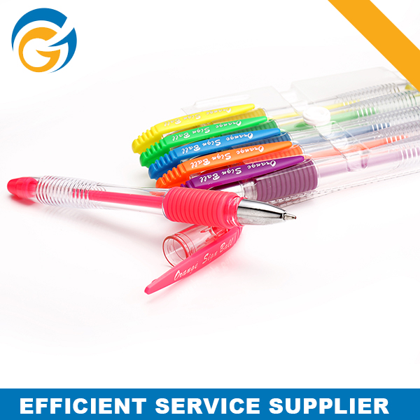 Fluorescent Color Gel Ink Pen Set for 6 Color or 12 Color