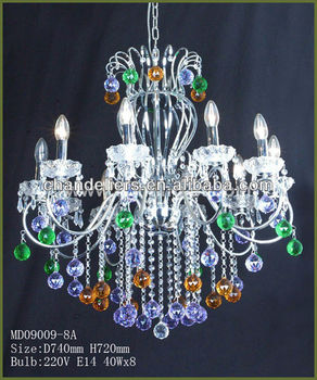 Multi Colored Gl Chandelier