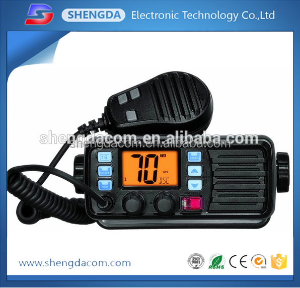SD-507M IP-67 Waterproof and Dustproof high power vhf marine radio with Dual/ Tri Watch and GPS Receiver function