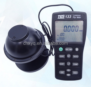 TES-133 Portable Light Meter Luminous Flux Meterr/Digital LUX Meter with integrating sphere