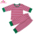 Boutique Toddler kids Red Cotton Blank Pajamas Kids Pyjamas Wholesale Family Christmas Pajamas