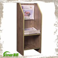 Newspaper Stand, Library Newspaper Stand, Wooden Newspaper Rack