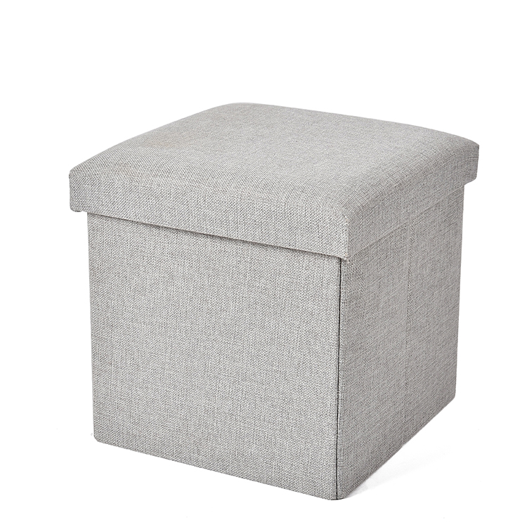 Square Padded Seat Linen Fabric Cover