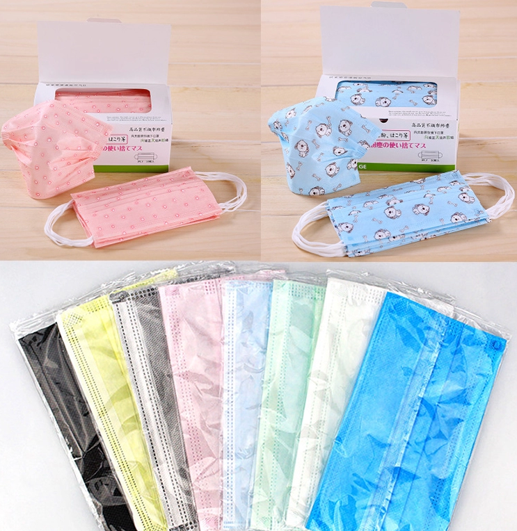 OEM Disposable 3 Ply Animal Pattern Kids Medical Face Mask Gauze Facial For Child