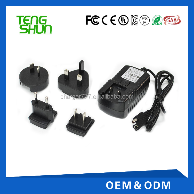 12v2a universal interchangeable charger adapter