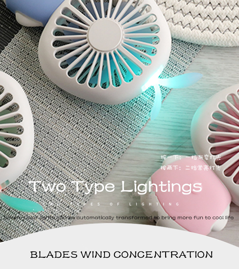 Mini Personal Fan Portable USB Rechargeable Fan Handheld USB Air Conditioning Fan
