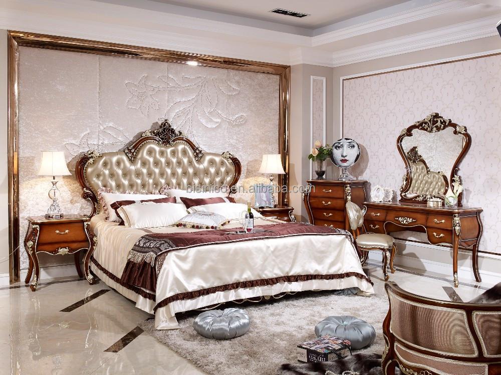 Madera Maciza Estilo Italiano Dormitorio Muebles Set Juego De Dormitorio De Madera Antigua
