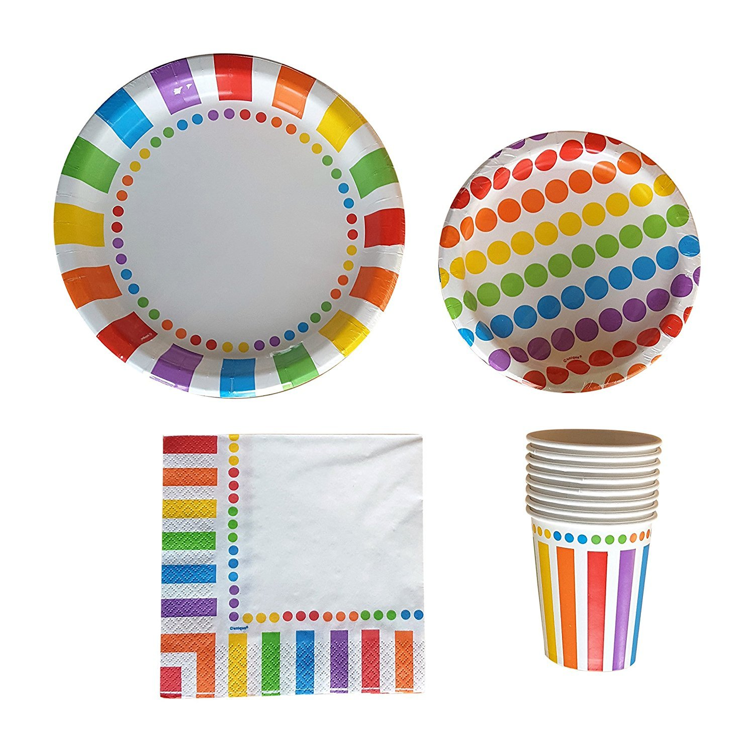 Get Quotations · Rainbow Party Supplies Pack for 16 Guests - Including Dinner Plates Dessert Plates Cups  sc 1 st  Alibaba & Cheap Rainbow Plates find Rainbow Plates deals on line at Alibaba.com