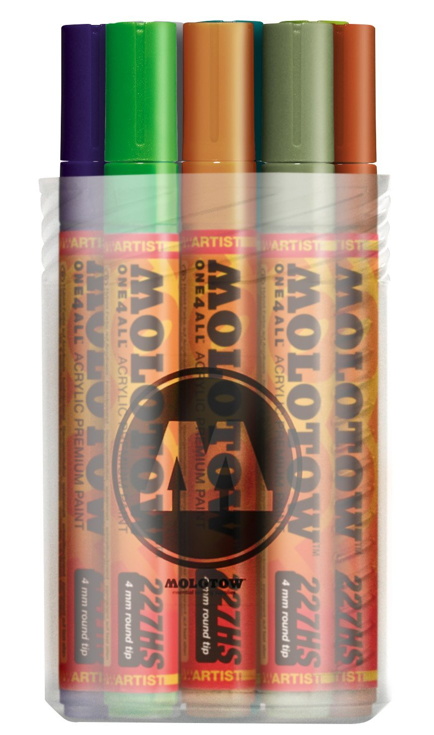 Molotow ONE4ALL Acrylic Paint Marker Set 2, 4mm, Assorted Colors, 12 Marker Set, 1 Set Each (200.164)