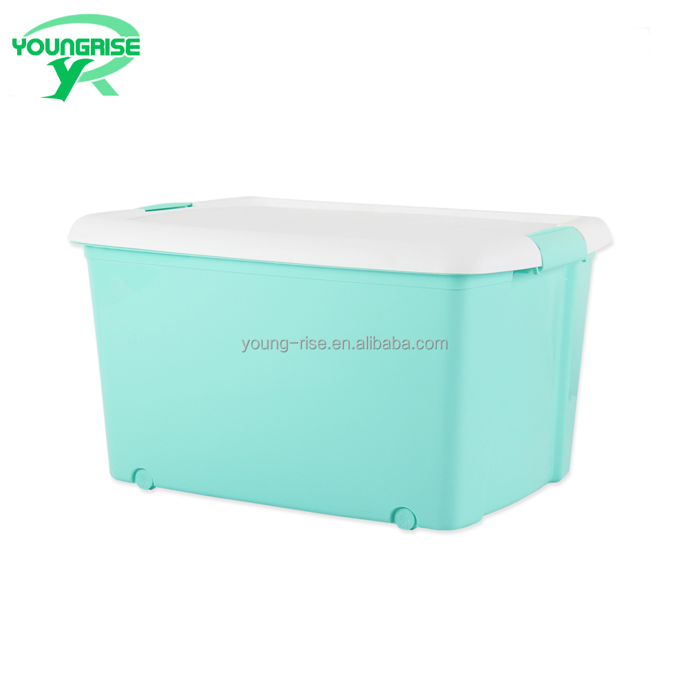 houseware plastic food storage boxes handle tool box with wheels