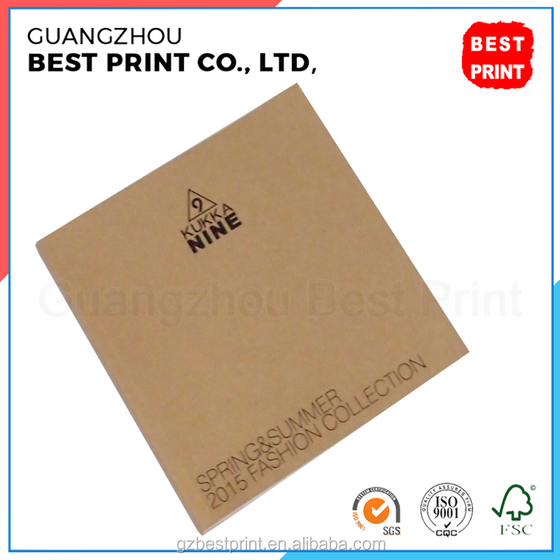Fashion professional clothing advertising book printing with soft cover sewing binding