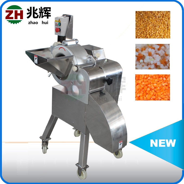 SUS304 Onion dicer/vegetable cubes cutter/baby carrot shred cubes cutting machine