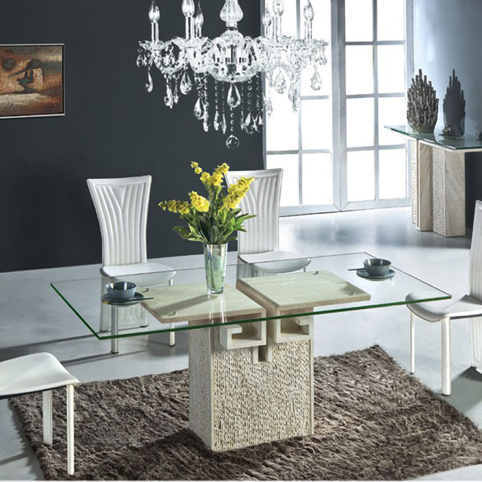 Hot Sale Glass Top Marble Base Living Room Dining Table Buy