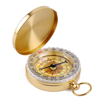 Camping Hiking Riding Sport Old Gold Glow in the Dark Military High Quality Survival Gear Bulk Brass Compass