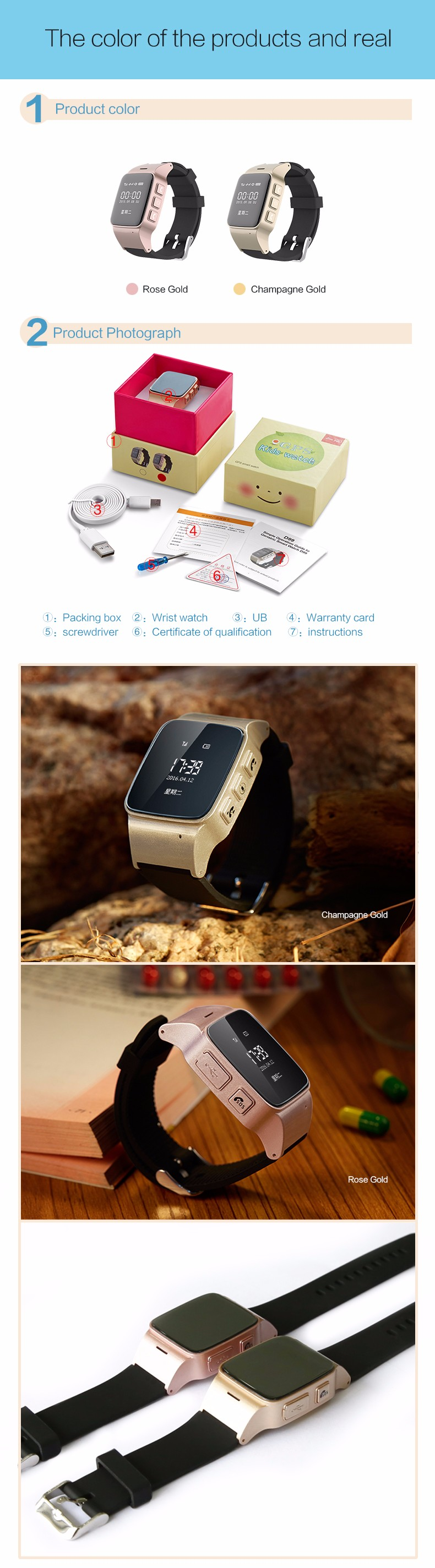 Smart Watch D99 SOS Anti-lost Gps+Lbs+Wifi Tracking monitor