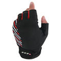 Cycling Gloves Breathable Bicycle Gloves Anti slip Half Finger Refelctive Strip Bike Gloves Guantes Ciclismo
