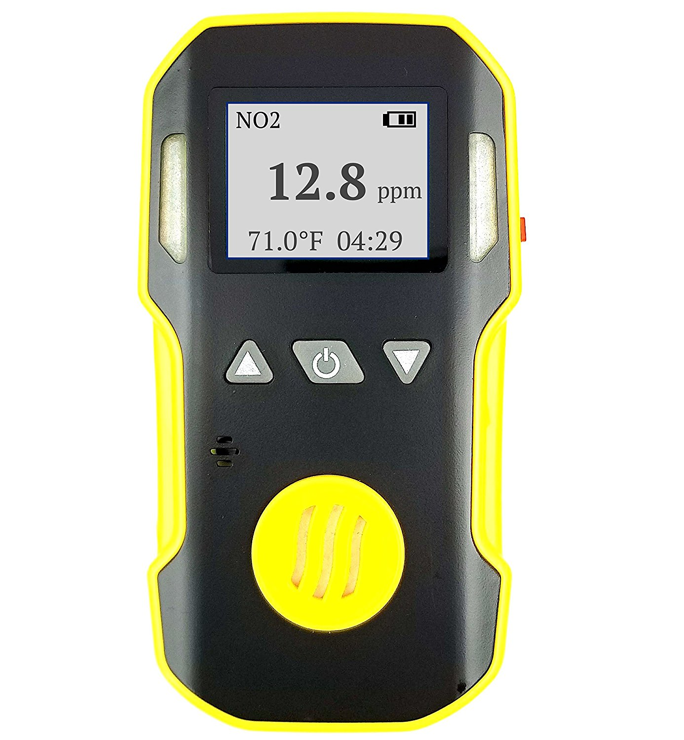 Nitrogen Dioxide NO2 Detector by FORENSICS & BOSEAN   ABS & Anti-slip Grip Rubber   Water, Dust & Explosion Proof   Li-ion Battery 1500mAh   Adjustable Sound, Light & Vibration Alarms   0-20ppm NO2  